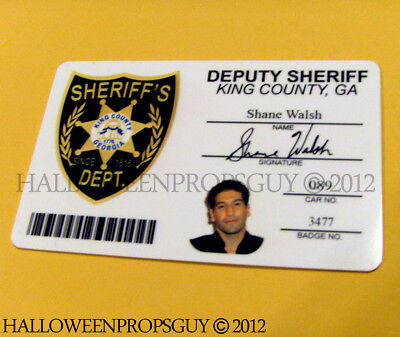 The Walking Dead Style Shane Walsh PVC ID Card Prop Replica Made in USA TWD for sale  Shipping to Canada