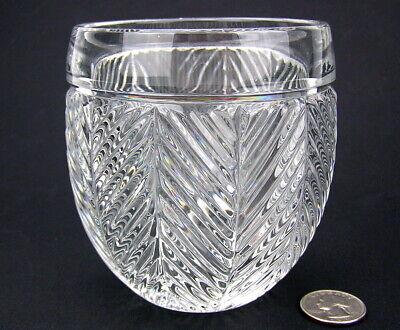 Ralph Lauren Crystal HERRINGBONE CLASSIC Roly Poly Old Fashioned Rocks Glass Ralph Lauren Crystal