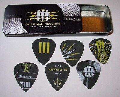 THIRD MAN RECORDS Logo GUITAR PICK TIN #2 New Nashville Jack White stripes