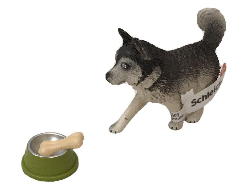 NEW! Schleich Siberian Husky 16835 + Bonus Bowl & Bone