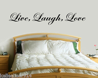 Live Laugh Love Vinyl Wall Decal Sticker   Romantic Life Saying Quote 9    60
