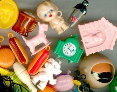 Vintage Charms Gumball 120 Dog House, Turtles, KEWPIE doll, Eyeball, Beatles