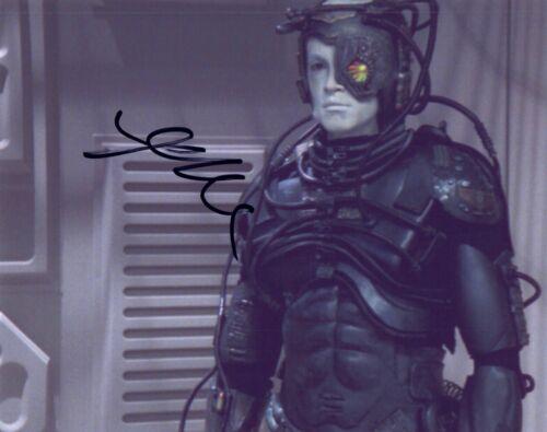 Jonathan Del Arco Signed  8x10 Photo STAR TREK THE NEXT GENERATION Hugh Borg COA