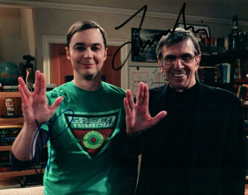 Jim Parsons Leonard Nimoy signed 8x10 Photo + COA autographed Picture very nice