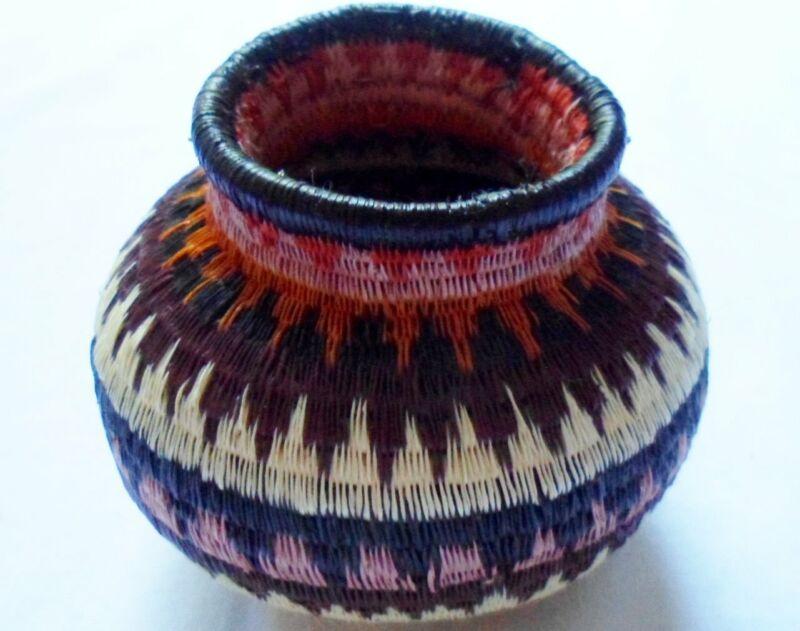 Wounaan Embera Woven Classic Design Basket-Panama 20063004mm