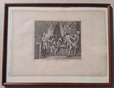 William HOGARTH: THE DISCOVERY, Kupferstich, gerahmt, um 1800, Riepenhausen