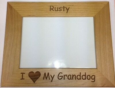 i love my granddog personalized custom grandparents pet photo dog frame gift