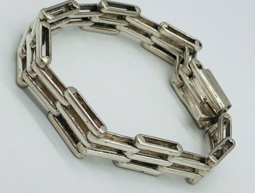 Mexican Sterling Silver .925 Sleek Link Chain Bracelet