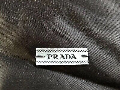 Unused Authentic PRADA Black Satin Drawstring Shoe Dust Bag Set