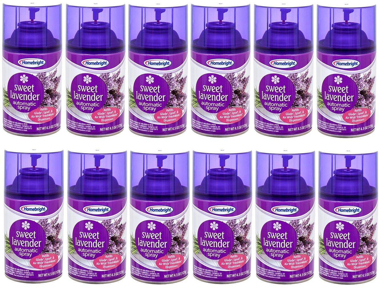 12 Homebright Automatic Spray Refills Air Wick Freshmatic