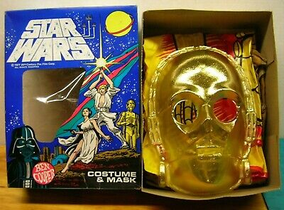 """Star Wars C-3PO Halloween, Vintage 1977 Ben Cooper """"Golden Robot"""" #742"""