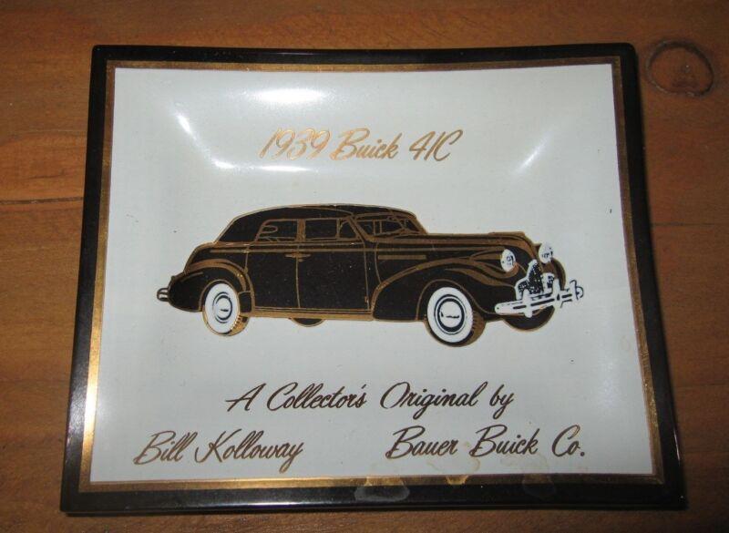 1939 Buick 41C Original Ashtray  - Bauer Buick Co.