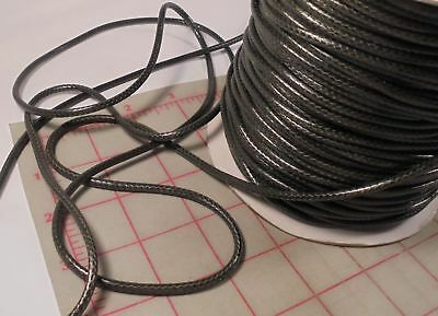 100 Yards Dark Green Jewelry Making Braided Cord From Korea 4mm Plastic Finish