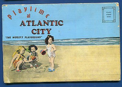 Atlantic City New Jersey nj postcard folder children on the (Kids Atlantic City)
