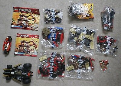 Used Lego Ninjago Fire Temple 2507   Extra Used