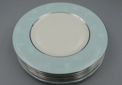 Castleton China USA CORSAGE Salad Plates - Set of Six