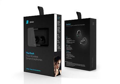 NEW Bragi The Dash Unquestionably Wireless Smart Bluetooth Earphones Waterproof Hearable