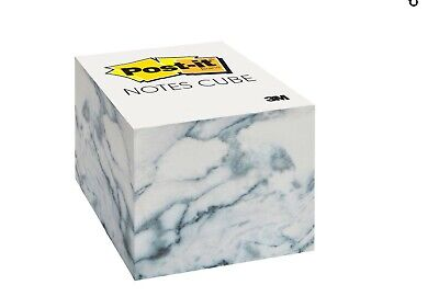 Post-it Notes Cube 2.6 In X 2.6 In Marble Design 620 Sheetscube