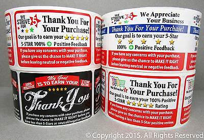 1000 eBay etsy amazon Thank You For Your Purchase FB Labels Stickers 4 ROLLS 250 (Etsy Ebay)