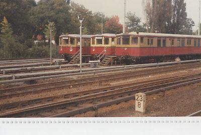 Foto Berliner S-Bahn, 3 Züge auf dem Abstellgleis Motiv 4