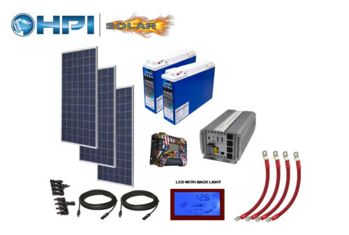4080 Watt Solar Panel System -w/Batteries Complete Kit DIY