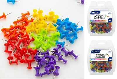 Push Pin Pins Thumb Tack Multi Color 38 Head For Office School Home 200 Pcs