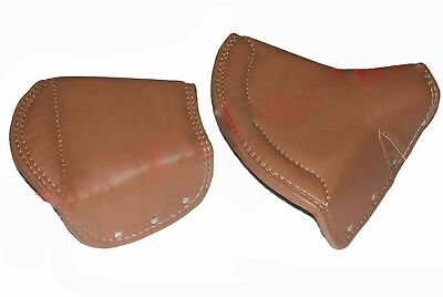 LYCETT TAN LEATHER FRONT  REAR SEAT COVER FOR ARIEL TRIUMPH NORTON BI