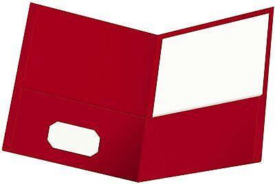 Oxford Twin-pocket Folders Textured Paper Letter Size Red Holds 100 Sheets