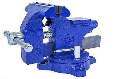 Bench Vise Vice Workbench Shop Garage Metal Pipe Clamp Holding Repair 4-12
