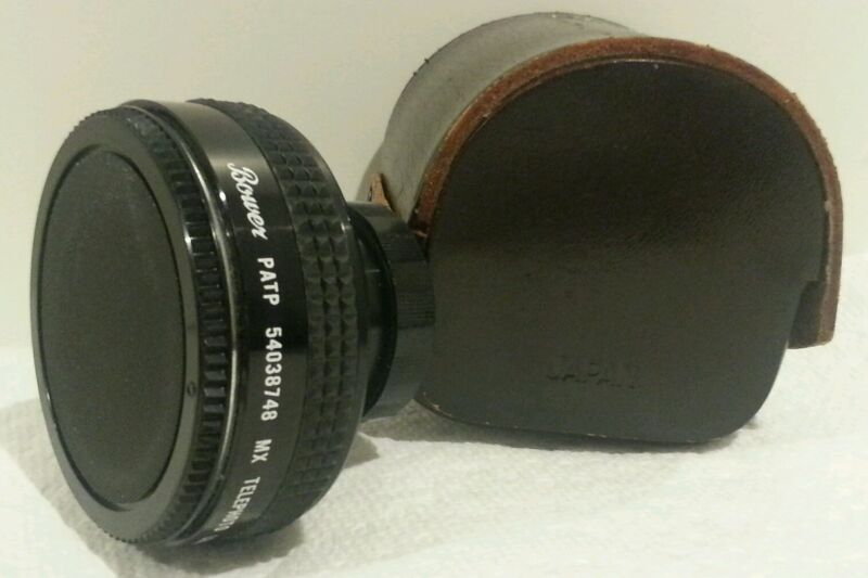 RARE!!! BOWER MX Telephoto Lens Adapter PATP 54038748 - Made in Japan