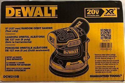 Dewalt DCW210B 20 volt Cordless Random Orbital Sander bare tool NEW IN BOX