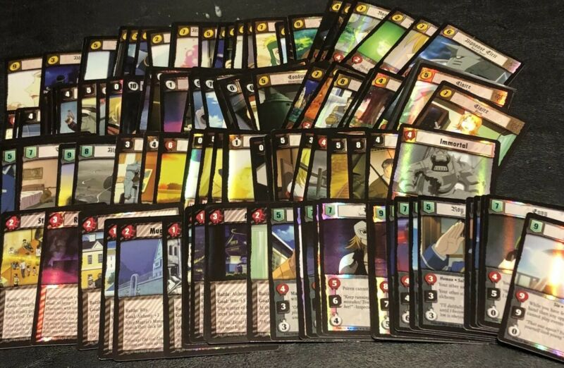 Complete Blood & Water Set  Fullmetal Alchemist 110 cards - 107 FOILS - FMA TCG