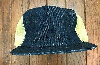 Vintage Blank Denim Trucker Hat Snapback Hat Baseball Cap USA Made