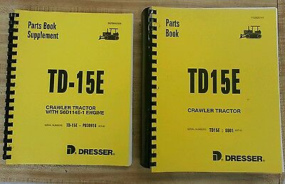 International Dresser Td15e Dozer Crawler Engine Chassis Parts Book Manual New