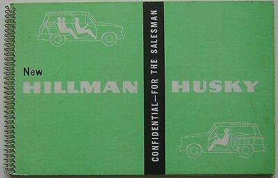 Hillman Husky Original UK confidential Salesmans Book  Pub No. 708/H  circa 1960
