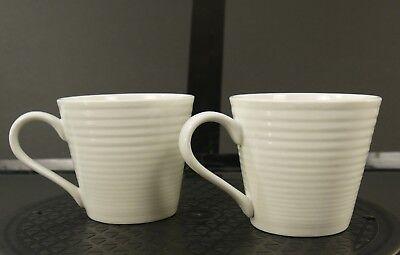 Royal Doulton 'Gordon Ramsay Maze' White Coffee Cups Mugs China Dinnerware Set 2 Gordon Ramsay Maze
