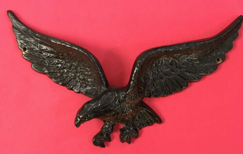 "Vintage Cast Brass Eagle 9"" Wall Hanging 7037 Patriotic Americana In Flight"