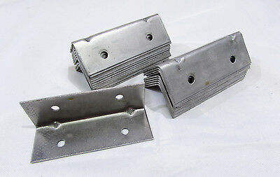"METAL ANGLE CORNER BRACKET 90° ELBOW BRACE L SHAPE 3"" X 1"" X 1"" (LOT OF 20)*NEW*"