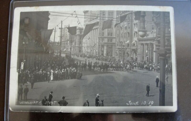 Original Photograph ~~  1919 Winnipeg General Strike