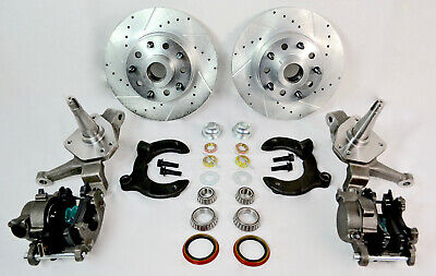 MUSTANG II FRONT DRILLED SLOTTED DUAL BOLT PATTERN ROTORS DISC BRAKE KIT 2