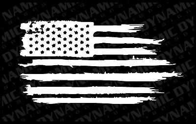 USA Flag Distressed decal sticker vinyl graphic American car truck window jeep A Window Decal Graphics
