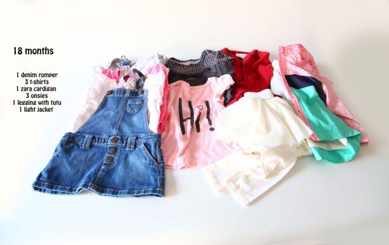 18 months girl cloths lot