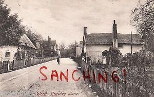 WORTH , CRAWLEY LANE , SUSSEX, FRITH, PU EAST GRINSTEAD 1907