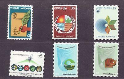 UN VIENNA MNH Scott # V24-29 1982 Annual Year Set MNH 6 stamps