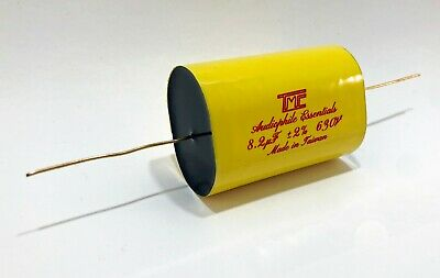4x Audiophile Gold Mylar Capacitors 8.2uf 630v -2 Audio Crossover Filter