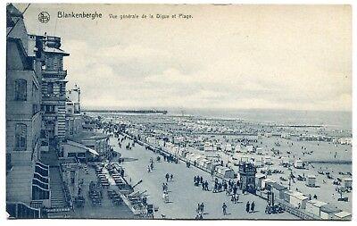 CPA - Carte Postale - Belgique - Blankenberghe - Vue Générale de la Digue et Pla