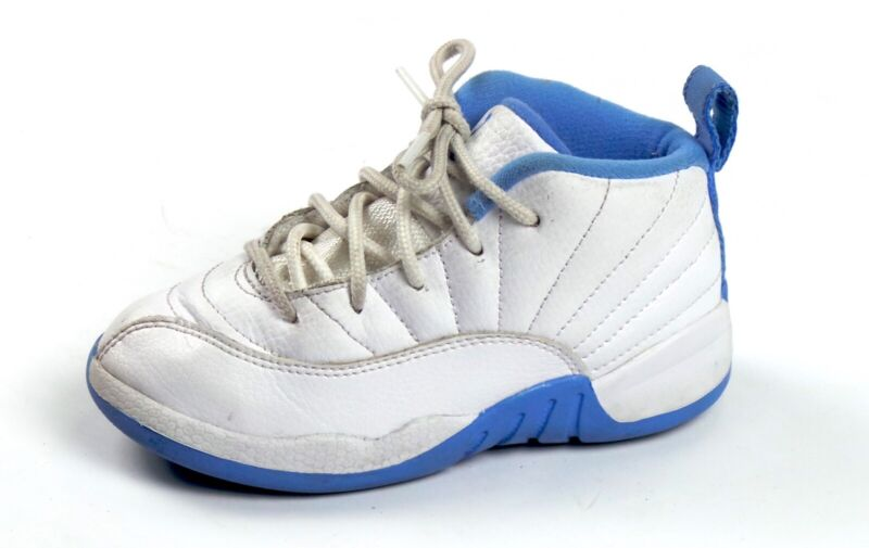 best cheap ed9be 0aa72 Details about Air Jordan 12 XII Retro Toddler 10C Melo White Gold  University Blue 819666-127