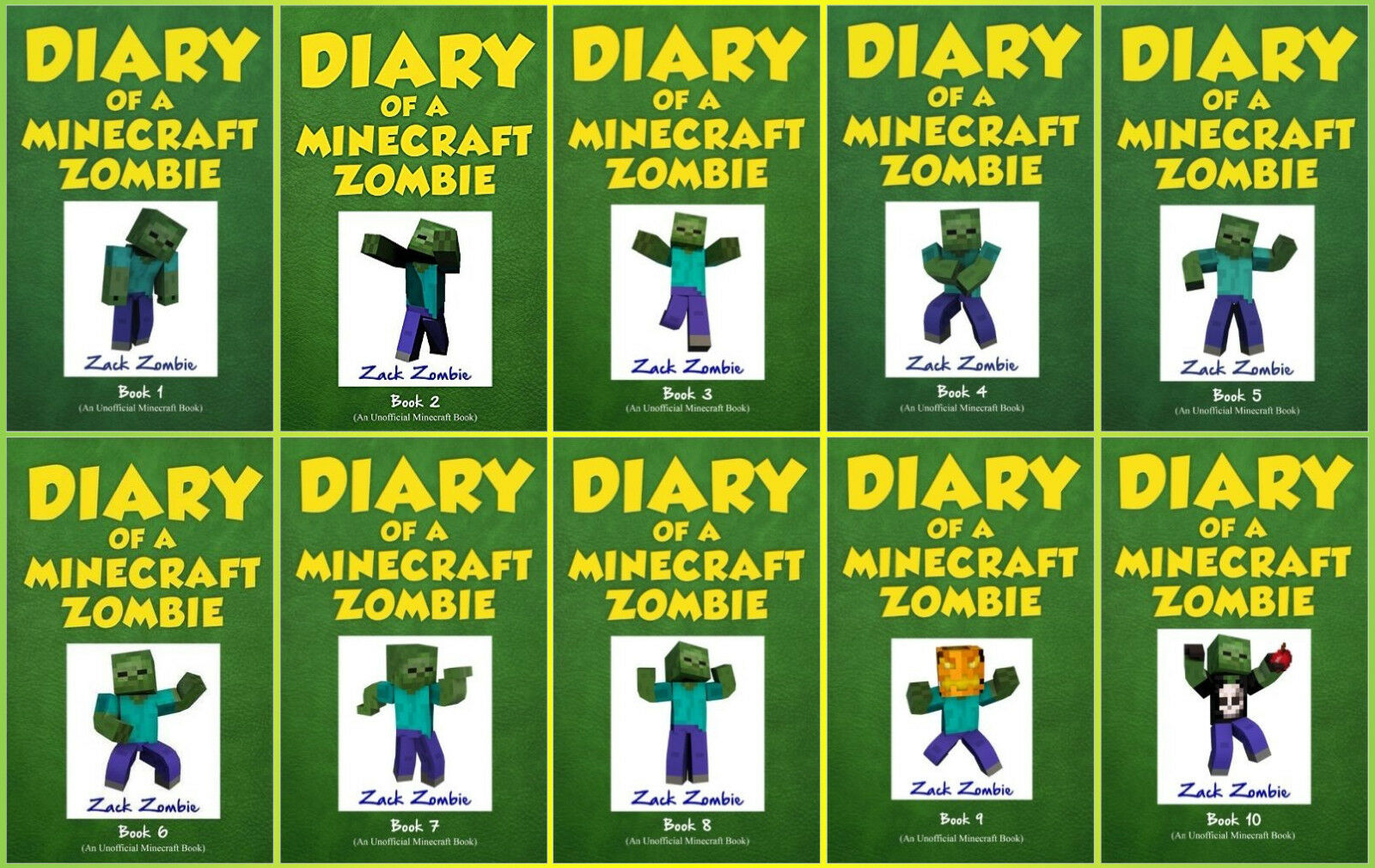 """Image for """"Diary of a Minecraft Zombie 1-10 by Zombie, Zack"""""""