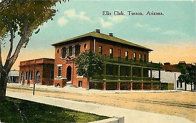 c1910 Printed Postcard; Elks Club, Tucson AZ Pima County Unposted