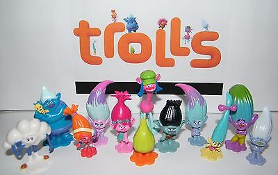 Dreamworks Trolls Movie Party Favors Set of 17 with Figures and Troll